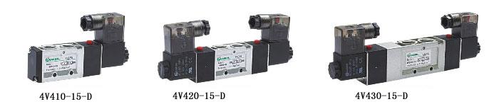 4v420-15,4v4系列二位五通/三位五通电磁阀,easun亿日气动方向控制阀图片